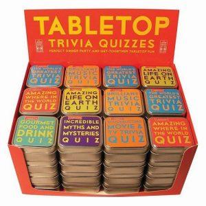 Tabletop Trivia Quiz Card Games - 70th Birthday Gift Ideas