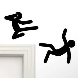 Stick Man Ninja Wall Stickers - Gifts Under $10