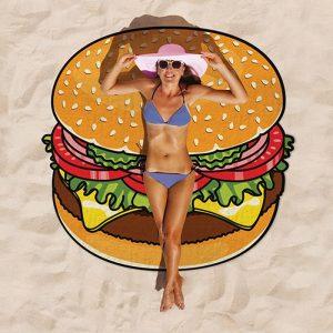 Burger Beach Blanket - Gift Ideas For Your Girlfriend