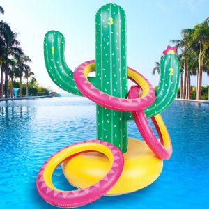 Inflatable Ring Toss Cactus - Gifts For 8 Year Old Boys