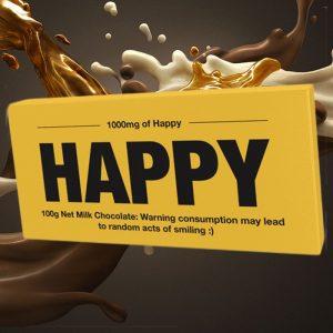 Happy Chocolate Bar - 70th Birthday Gift Ideas