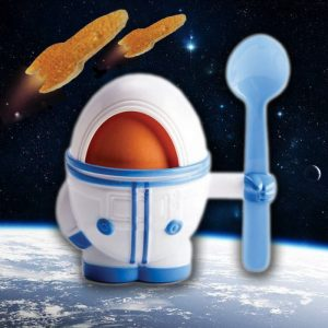 Eggstronaut – Astronaut Egg Cup, Spoon & Toast Cutter - Gifts For 9 Year Old Boys