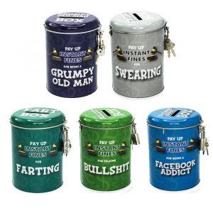 Smuttiness Fines Money Tin - Gifts Under $10