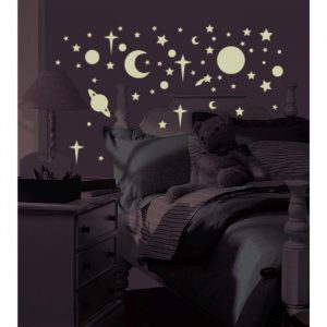 Glow In The Dark Stars & Planets – Reusable Wall Stickers - presents for 8 year old girls