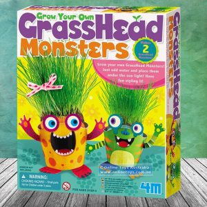 Grow Your Own Grass Head Monsters - Gifts For 9 Year Old Boys