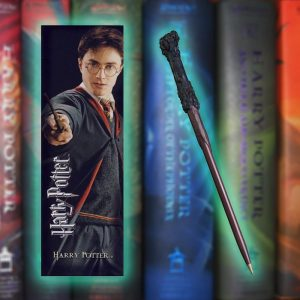 Harry Potter Bookmark & Wand Pen Set - Gifts For 9 Year Old Boys