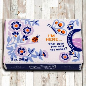 'I'm Here, What Were Your Next Two Wishes?' - Lavender & Vanilla Soap - Gifts Under $10