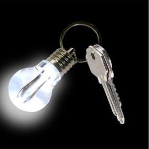 Light Bulb LED Keyring - Gifts Under $10