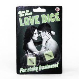 Glow In The Dark Love Dice - Gifts Under $10