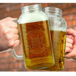 Mason Jar Giant 2 Litre Beer Stein - Gifts For Travellers