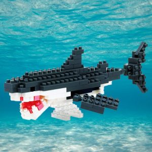 Nanoblock – Great White Shark - Gifts For 9 Year Old Boys
