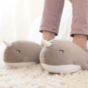 Narwhal USB Heated Slippers - 70th Birthday Gift Ideas