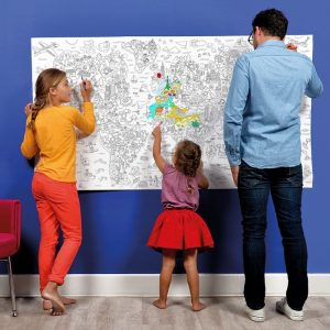 OMY Giant Fantasy Colouring Poster Roll - 180 x 100cm - Gifts For 7 Year Old Boys
