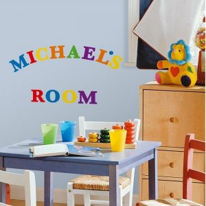 Coloured Letter Wall Stickers – Removable & Reusable Wall Stickers - Gifts For 1 Year Old