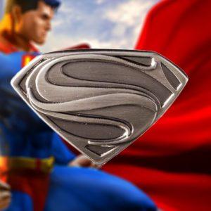 Superman Logo Pewter Lapel Pin | Man of Steel DC Comics - Gifts Under $10