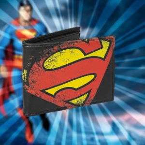 DC Comics Superman Logo Wallet - Gifts For 9 Year Old Boys