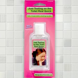 Texting On The Toilet - Hand Sanitizer - Gifts For Couples