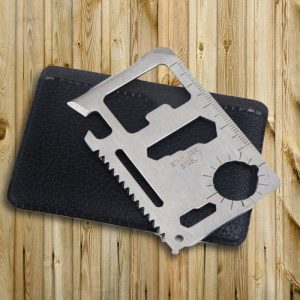 10-in-1 Stainless Steel Multi-Tool Card - Gifts Under $10