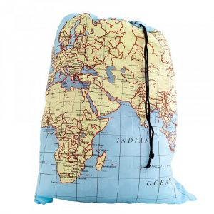 World Map Travel Laundry Bag - Gifts For Travellers
