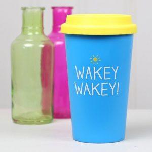 Wakey Wakey Travel Mug   Happy Jackson - Gift Ideas For Your Girlfriend