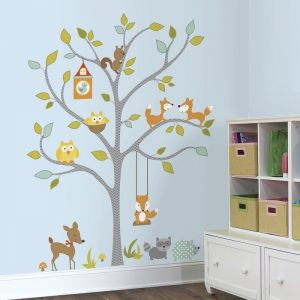 Woodland Fox & Friends Tree Giant Wall Stickers | RoomMates - Gifts For 1 Year Old