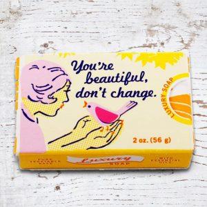 'You're Beautiful, Don't Change' - Gardenia & Orange Soap - Gift Ideas For Your Girlfriend