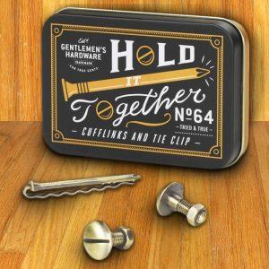 Handyman Cufflinks & Tie Clip | Gentleman's Hardware - groomsmen gifts