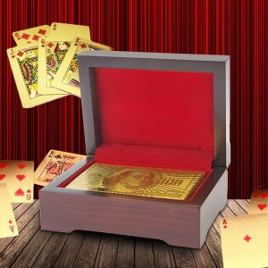 24K Gold Plated Playing Cards - groomsmen gifts