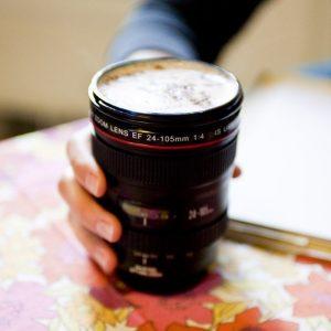 Camera Lens Coffee Mug - 60th Birthday Present Ideas