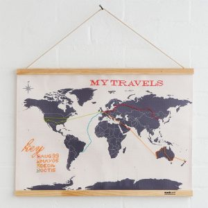 Cross Stitch Map: Stitch Your Travels Around The World! - Christmas Presents For Mum