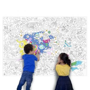 OMY Giant Fantasy Colouring Poster Roll - 180 x 100cm - presents for 8 year old girls
