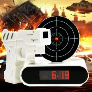 16th birthday present ideas that are fun -gun alarm clock