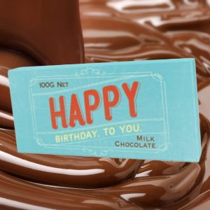 Happy Birthday Chocolate Bar - 80th Birthday Present Ideas