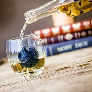 Sparq Whiskey Granite Ball & Glass Set - 80th Birthday Present Ideas