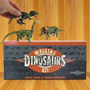 Wind Up Walking Dinosaurs Kit - Gifts For 3 year Old Boys