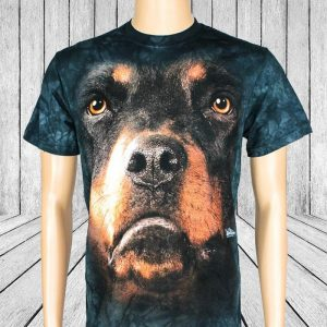 Rottweiler Animal Face T-Shirt  - Gifts For Dog Lovers