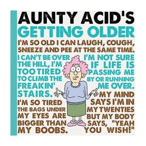 Aunty Acid Guide To Getting Older Book - 70th Birthday Gift Ideas