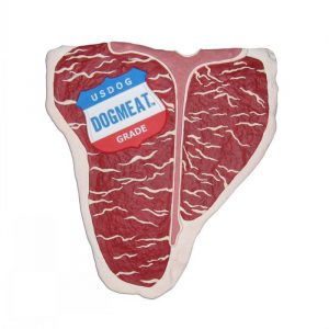 Large T-Bone Steak Dog Toy - Gifts For Dog Lovers