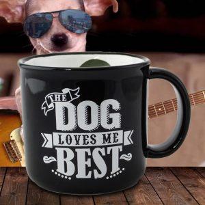 'The Dog Loves Me Best' Mug  - Gifts For Dog Lovers
