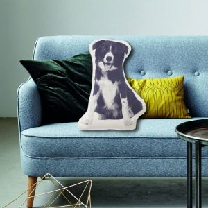 Border Collie Dog Fauna Cushion | Areaware  - Gifts For Dog Lovers