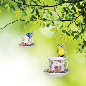 High Tea Porcelain Bird Feeder - Gifts For Sister