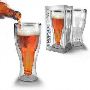 Hopside Down Beer Glass | by Fred - 70th Birthday Gift Ideas