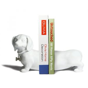 Sausage Dog Dachshund Bookends | Set of 2 - 80th Birthday Present Ideas