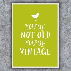 You're Not Old; You're Vintage Book - 70th Birthday Gift Ideas
