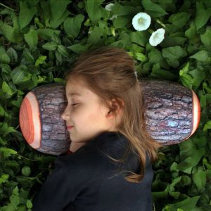 Wood Log Pillow - presents for 8 year old girls