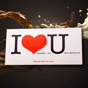 I Love You Chocolate Bar - Gifts For Couples