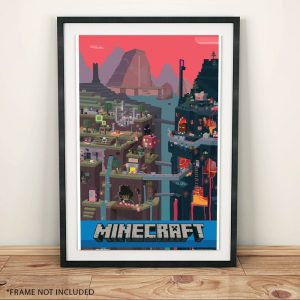 Minecraft World Poster 61 x 91cm - gift for gamers