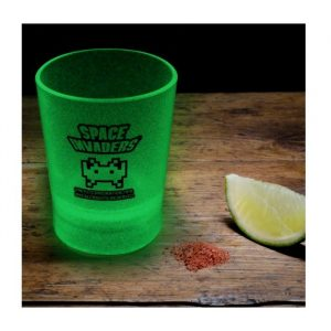 Space Invaders Glow-in-the-Dark Shot Glasses - Set of 4 - gift for gamers