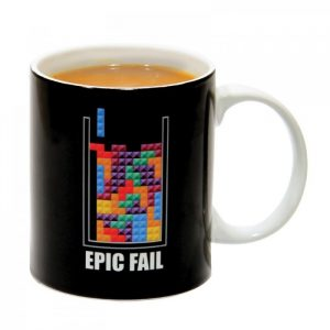 Official Tetris Epic Fail Mug - gift for gamers