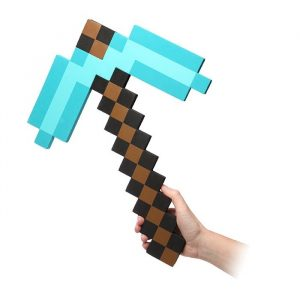 Minecraft Foam Diamond Pickaxe - gift for gamers